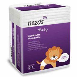 Needs Baby Algodao Quadrado Com 50 Unidades