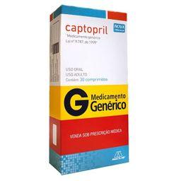 Captopril 50 mg Pharlab Genérico 30 Comprimidos