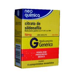 Citrato De Sildenafila 100 mg Prati Genérico 2 Comprimidos