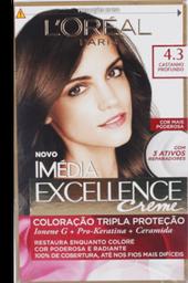 Creme Coloração Imedia Excellence Castanho Iluminado 4.3