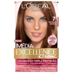 Creme Coloração Imedia Excellence Chocolate Dourado 7.7