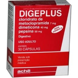 Digeplus 7 mg + 40 mg + 50 mg Gelatinosas 30 Cápsulas