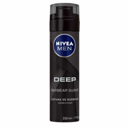 Espuma De Barbear Nivea For Men Deep Black 200 mL
