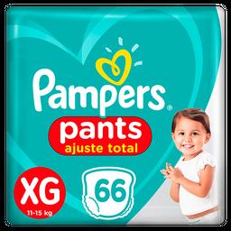 Fralda Pampers Pants Top Ajuste Total XG 66 Und