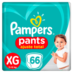 Fralda Pampers Pants Top Ajuste Total XG 66 Und