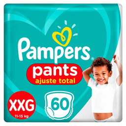 Fraldas Pampers Pants Top Ajuste Total XXG 60 Und