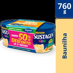 Pack Sustagen Kids Baunilha Lata 2x380g - Complemento Alimentar