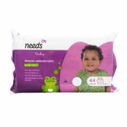 Compre 4 Ganhe 25% Lenços Umedecidos Needs Baby Aloe Vera 44 Und