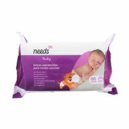 Lenços Umedecidos Needs Baby Recém Nascido 96 Und