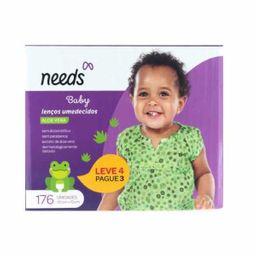 Lenços Umedecidos Needs Pack Baby Aloe Vera Pague 3 Leve 4 Und