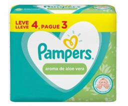 Lenços Umedecidos Pampers Aroma De Aloe Vera Pague 3 Leve 4 Und