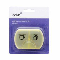 Porta Comprimidos Needs Arrendondado 2 Divisórias