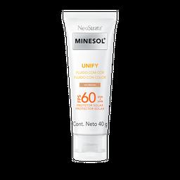 Protetor Solar Neostrata Minesol Unify Cor Morena FPS 60 40 g