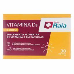 Raia Vitamina D 1000Ui 30 Cápsulas