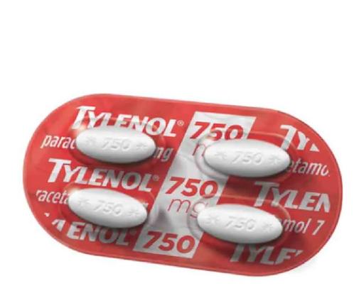 Tylenol Analgésico Blister 750 Mg