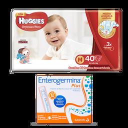 Fralda Huggies Supreme Care M 40 Tiras + Enterogermina Plus 5mL