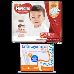 Fralda Huggies Supreme Care XG 26 U+ Enterogermina Plus 5mL