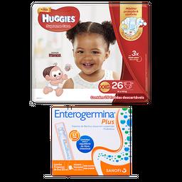 Fralda Huggies Supreme Care XXG 26 U + Enterogermina Plus 5mL