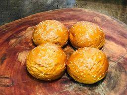 Pão de brioche para burger Com gergelin