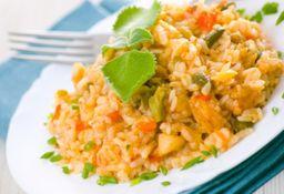Risoto frango com legumes