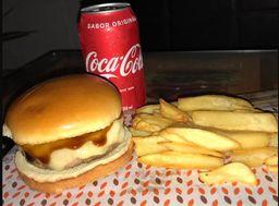 Combo Burgo Cheese Burger + Refri + Batata Canoa