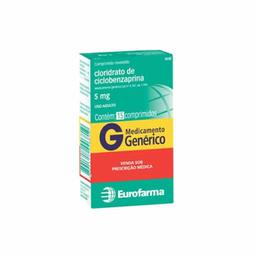 Ciclobenzaprina Genérico 5 mg Eurofarma 15 Comprimidos
