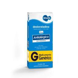 Desloratadina 5mg Eurofarma Genérico 10 Comprimidos