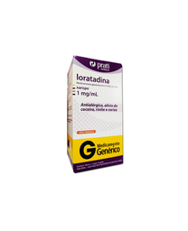 Loratadina Genérico 1 mg + Xarope Prati 100 mL