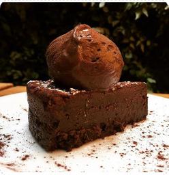 Fatia Torta Caprese (fudge Chocolate)