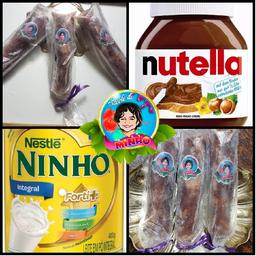Sacolé de Leite Ninho com Nutella