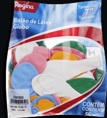 Balão Liso Pera Regina Com 50 N7 Sortido