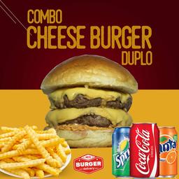 Combo cheese burger duplo
