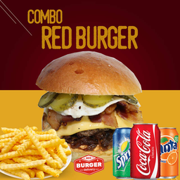 Combo red burger