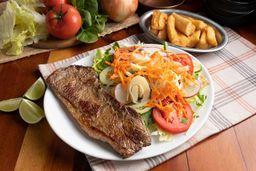 Prato 14 - picanha salada, mandioca ou fritas