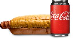 Compre um Hot Dog e ganhe uma Coca-Cola sem açúcar - 220ml
