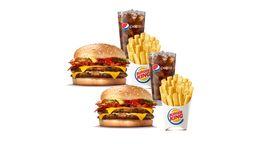 2x1 Combo Cheeseburger Duplo Bacon