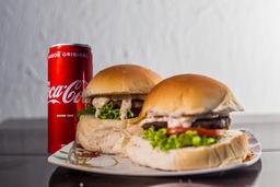 Combo 2 Hambúrguers Dias + Coca-Cola Original Lata