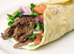 Shawarma carne com faláfel
