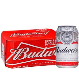 Pack Cerveja Budweiser 269 ml Lata 8 unidades