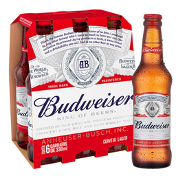 Cerveja Budweiser 330 mL Long Neck 6 Und