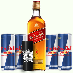 Combo 02 Red Label + 4 Red Bull