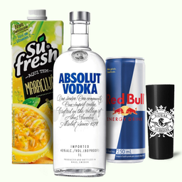 Combo 07 Absolut + 4 Red Bull