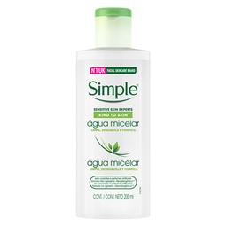 Água Micelar Sem Perfume Simp Kind Skn 200 mL