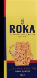 Biscoito Roka Holandês Queijo Cheddar E Cebola 70 g