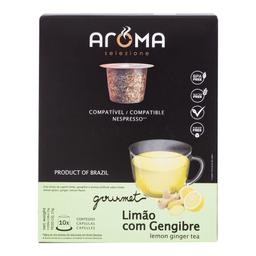 Chá Cápsula Limão Com Gengibre Aroma 80 g