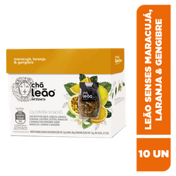 Chá Leão Senses Maracujá, Laranja E Gengibre - 10 Sachês