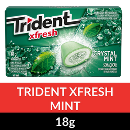 Chiclete Trident Xfresh Menta 18 g