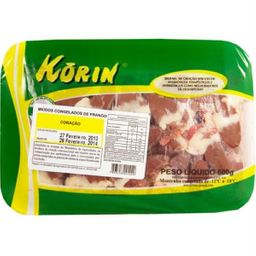 Coração Congelado Orgânico Korin 600 g