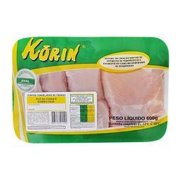 Filé De Coxa E Sobrecoxa Sem Pele S/Tr Congelado Korin 600 g