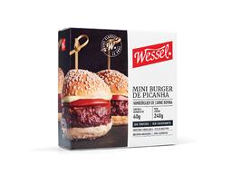 Hambúrguer Bovino Sem Tempero Orgânico Wessel 300 g
